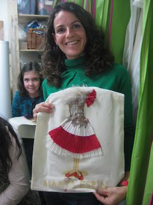 Taller Recicla Inventa para la inauguración de tienda Marta Espín