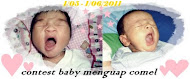 contest baby menguap comel by atie