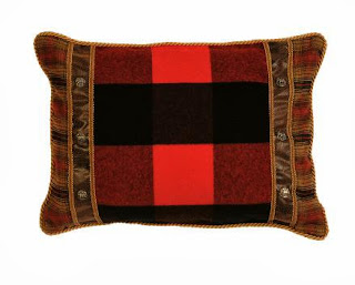 red-plaid-bed-sham