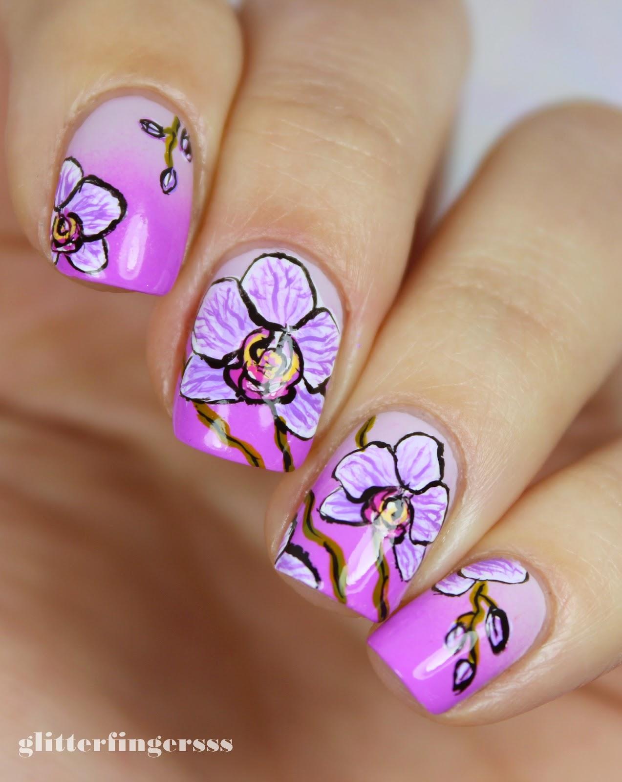 Рисунки на ногтях для пошаговое фото