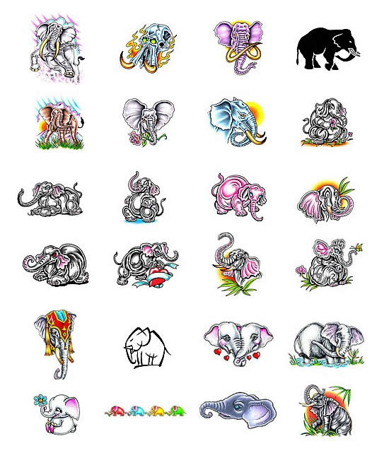 Elephant Tattoos and Elephant Tattoo Designs