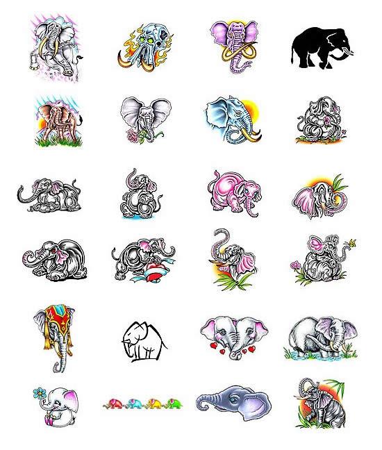 Elephant Tattoos and Elephant Tattoo Designs
