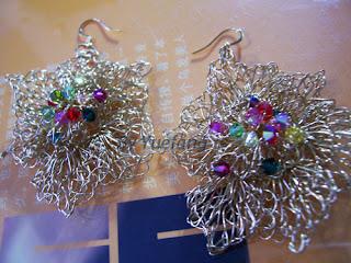 Brass_Wire_Crochet_Earrings_Swarovski_Crystals_Center_embellishment