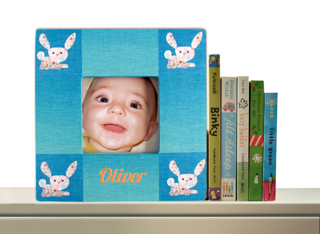 Personalized Bunnies Picture Frame by Silva Ware