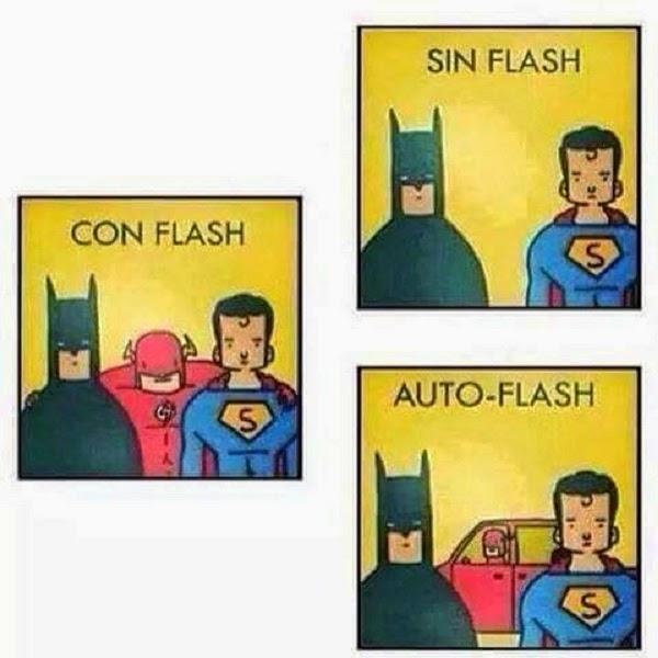 Con flash, sin flash y auto-flash