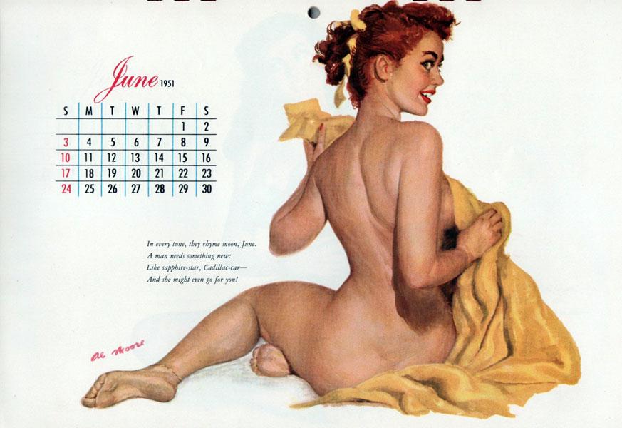 calendar Vintage pinup