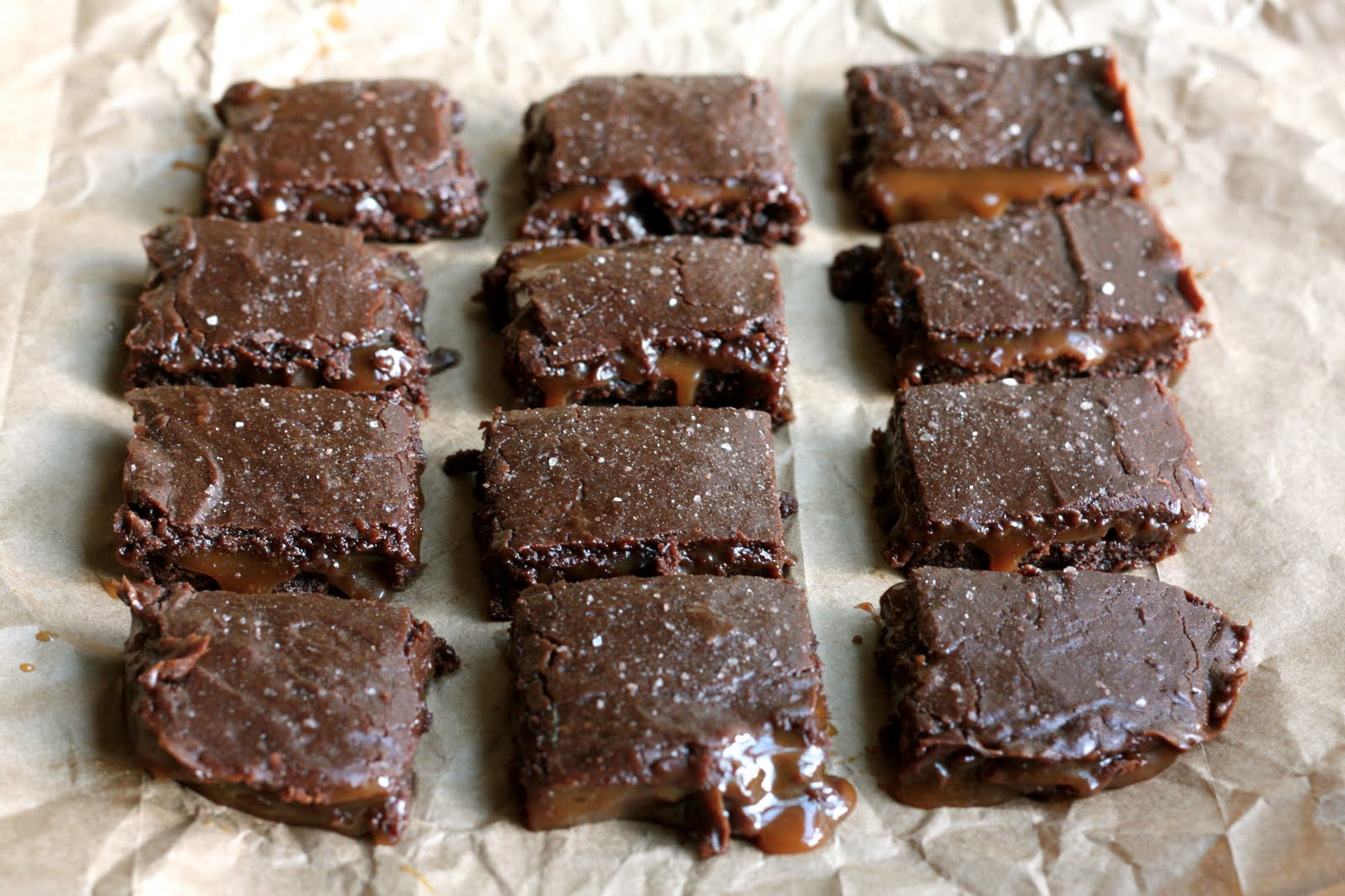 Flourishing Foodie: Salted Caramel Brownies {revisited}