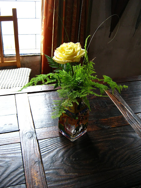 A yellow rose on the table. Gracefull Uruguay Photo Friday