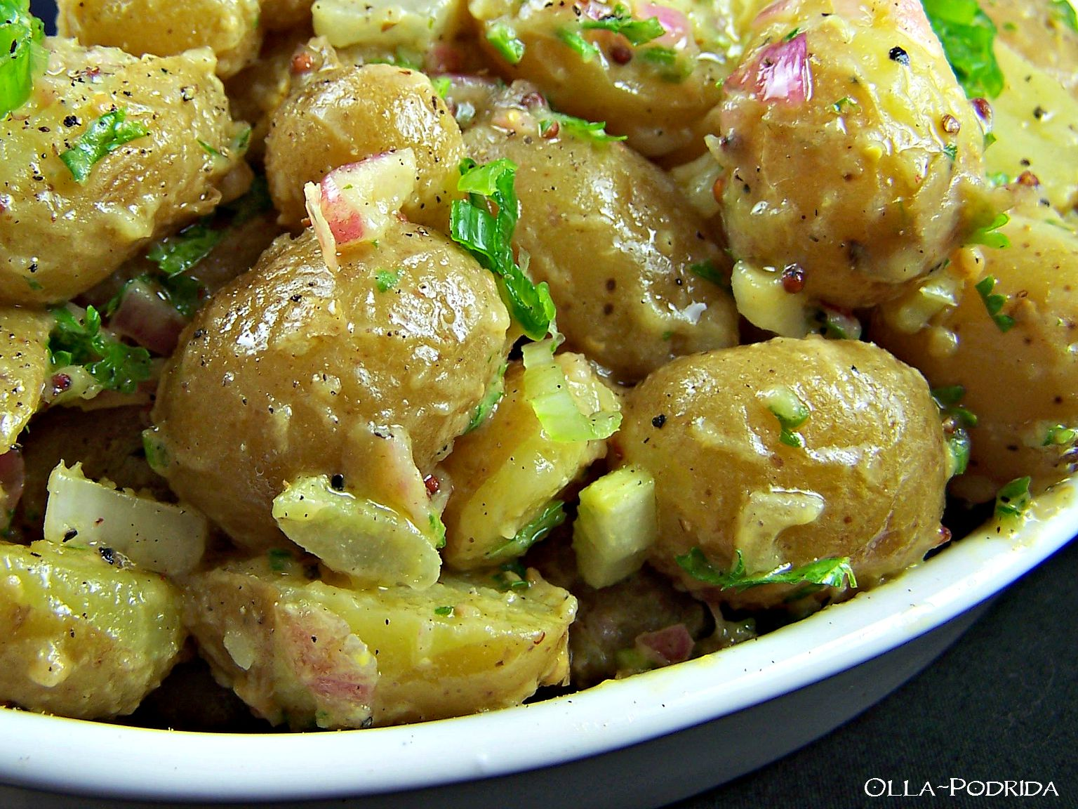 Olla-Podrida: Warm New Potato Salad with Vinegar and Mustard