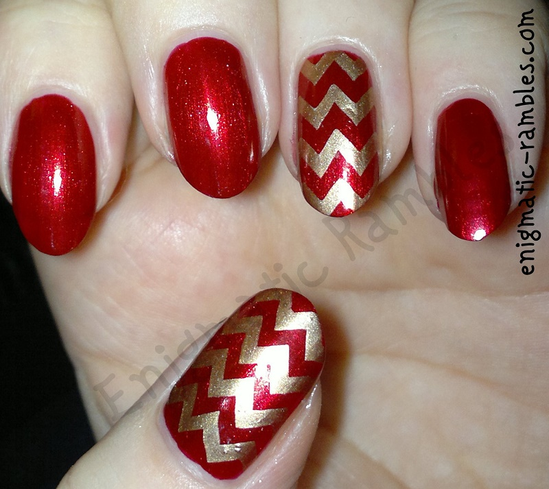 red-gold-chevron-stamping-stamped-nails-nail-art-leighton-denny-be-my-berry-moyou-nails-128