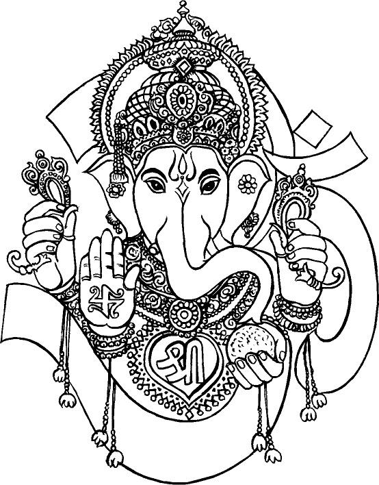 Line Art Hindu Gods : Best collection store god ganesha black white
