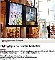 Jag och mina Fotoutställningar är på Kultursidan i Länstidningen April 2013