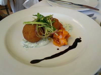 la petite ferme franschhoek south africa malaysian fish cake appetizer