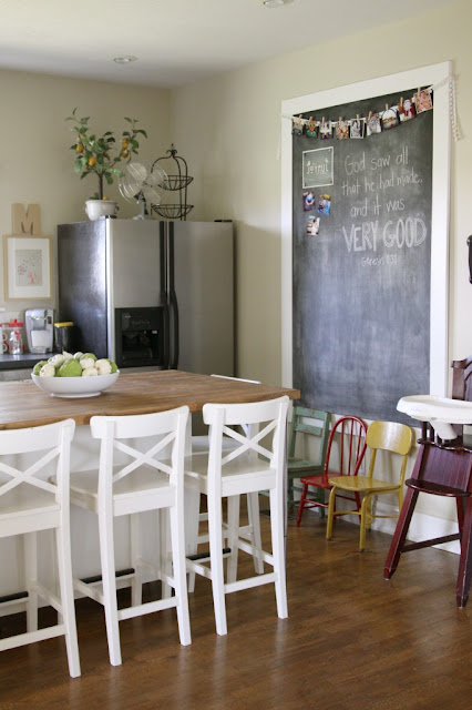 Easy DIY Giant Magnetic Chalkboard