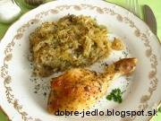 Pečené kurča na kapuste - recept
