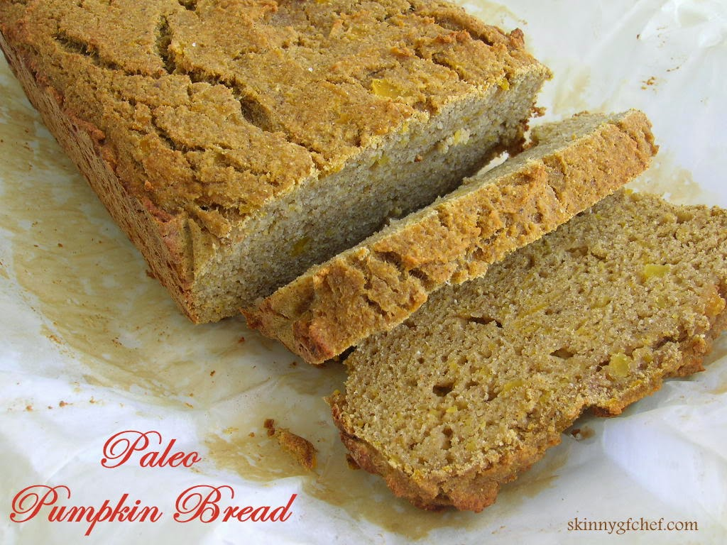 Gluten Free pumpkin quick bread made without grains or nuts