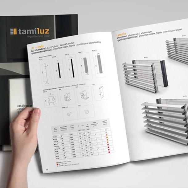 Diseño de catálogos fabricantes de persianas aluminio
