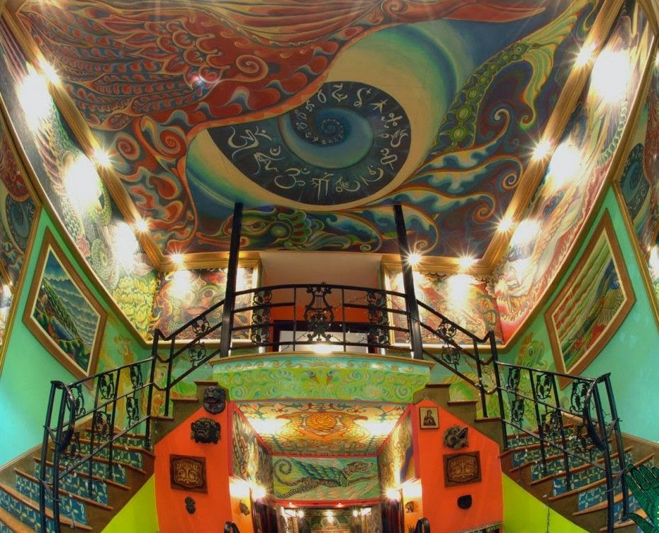 A Former Masonic Lodges Psychedelic Makeover Home Design
