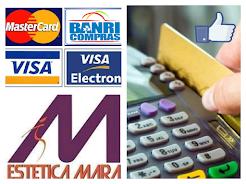 Aceitamos cartões de crédito e débito !!!