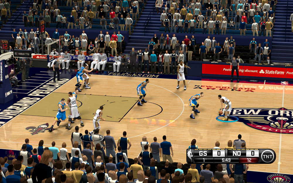NBA 2K14 New Orleans Pelicans HD Court Mod