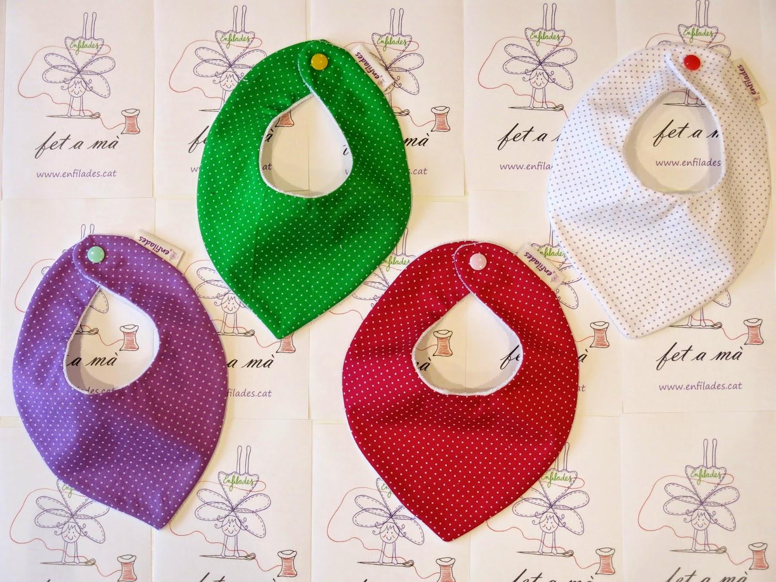 Bandana Puntets de colors per nadons 3 a 6 mesos - enfilades.cat