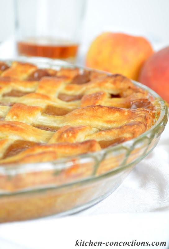 Kitchen Concoctions: Bourbon Peach Pie
