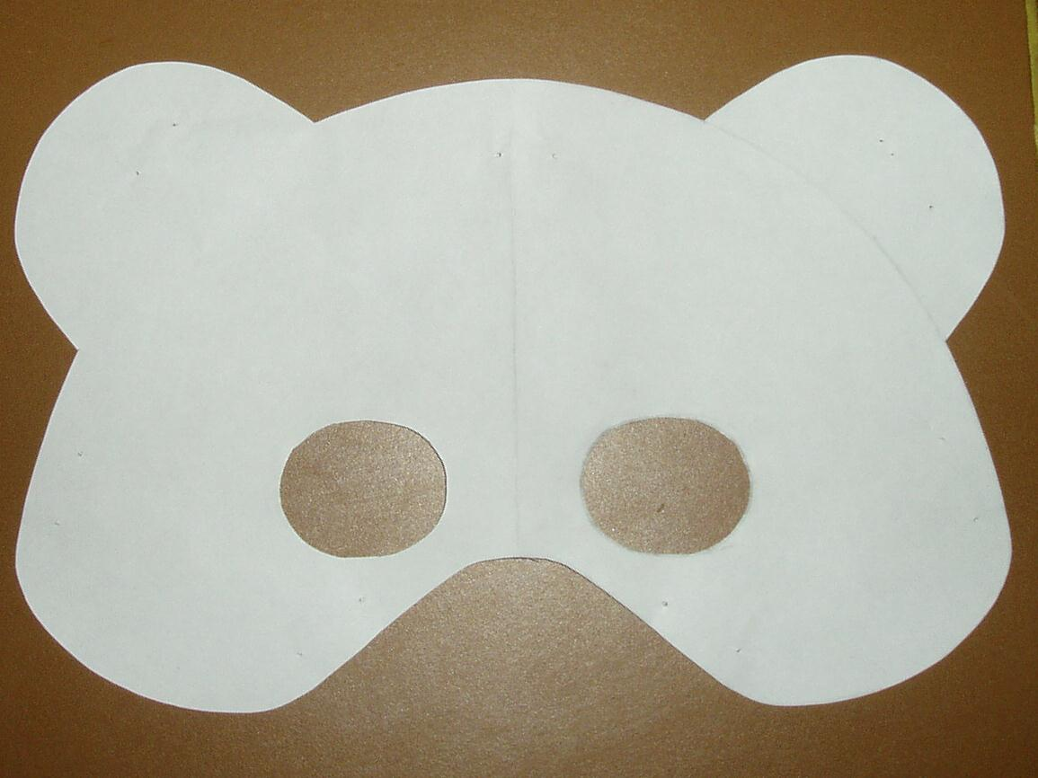 It is a graphic of Universal Paper Mask Template