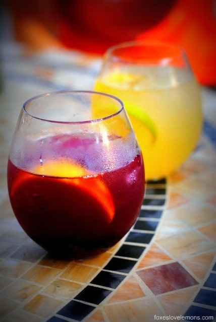 Sangria Party Week: Red Cherry Sangria & White Peach Sangria