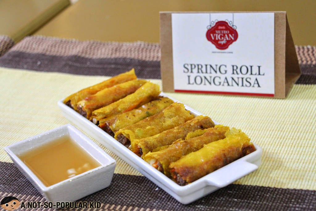 The Spring Roll Longanisa, as one of the appetizers, of Metro Vigan Cafe