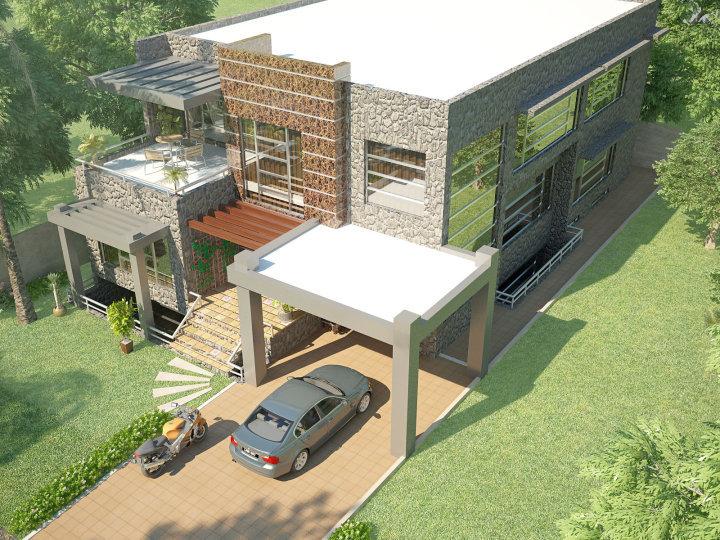 Beautiful Modern 1 Kanal Home 3D Front Elevation Pakistani