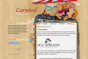 Carnival Blogger Template