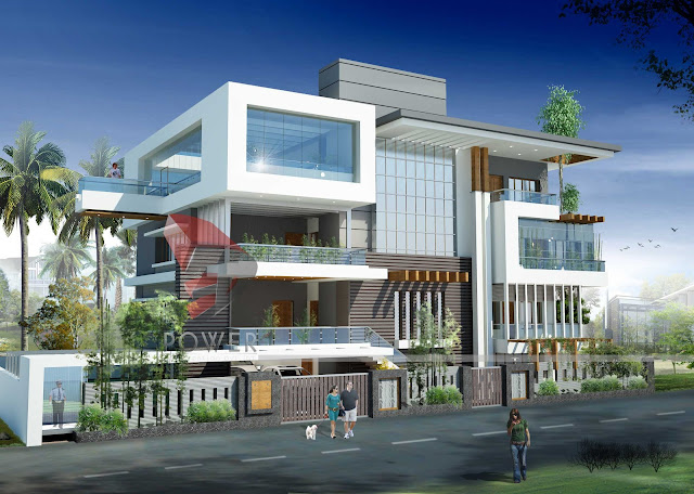 ultra modern architecture,3d architectural rendering