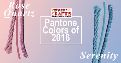 Pantone Colors of 2016 as shown in craft cords