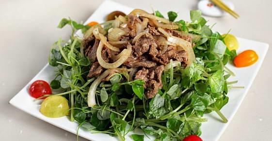 Cách làm món Rau càng cua trộn thịt bò ngon