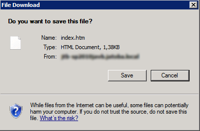 sharepoint 2010 html page prompt