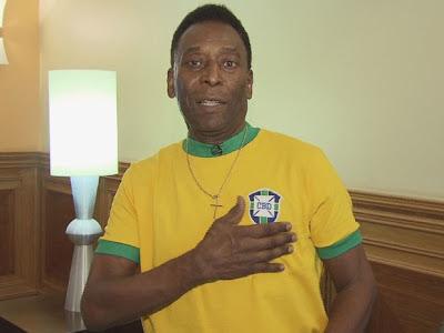 Em vídeo Pelé pede aos brasileiros esquecerem manifestações e apoiar a 'Seleção'