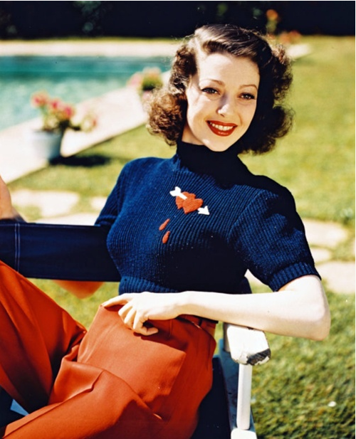 Loretta Young in the 1940s #vintage #fashion #1940s