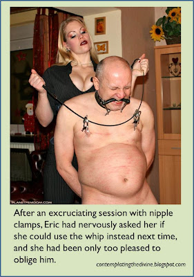 Femdom dominatrix nipple clamps eek!