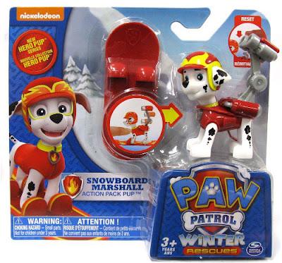 TOYS : JUGUETES - PAW PATROL : La Patrulla Canina  Hero Pup - Snowboard Marshall | Figura - Muñeco  2015 | Winter Rescues | Serie Television Nickelodeon  A partir de 3 años  Comprar en Amazon España & buy Amazon USA