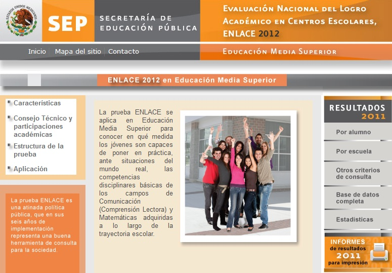 www.enlace.sep.gob.mx Resultados ENLACE MEDIA SUPERIOR 2012 - ENLACE ...