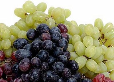 manfaat buah anggur ungu dan hijau