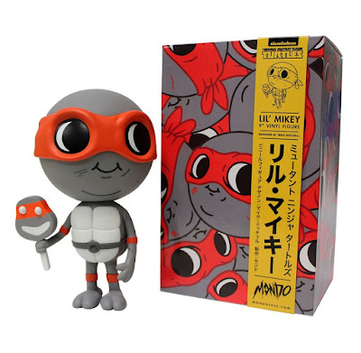 "MondoCon Exclusive Teenage Mutant Ninja Turtles Red and Grey Edition ""Lil Mikey"" Vinyl Figure by Mike Mitchell"