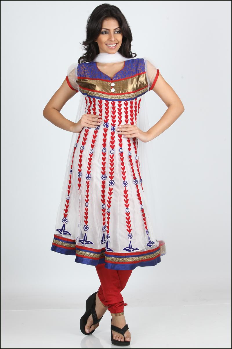 White Anarkali Churidar Kameez Latest Fashion Today