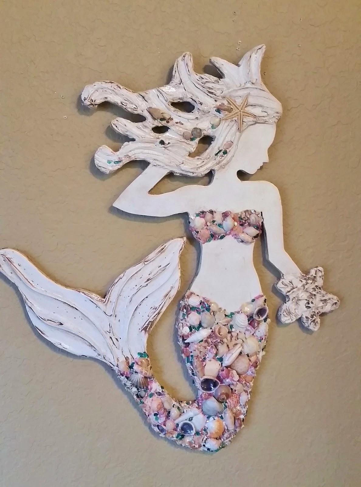 mermaid and starfish art