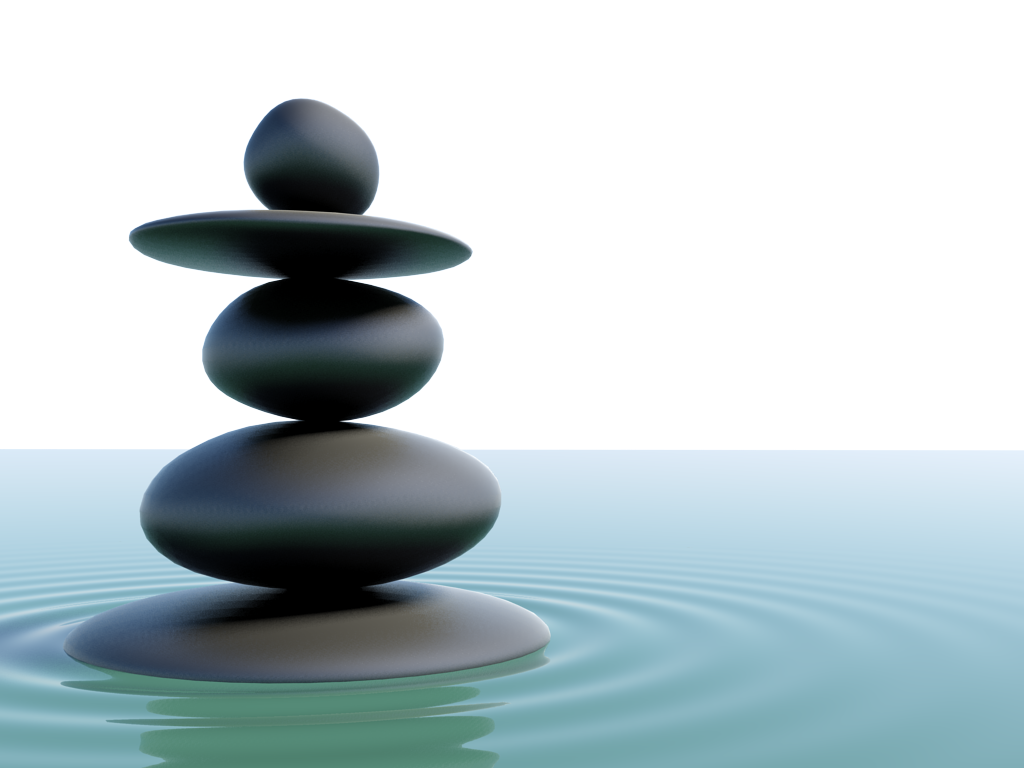 japanese 3d zen stones on 3ds max mazumder