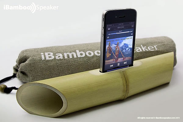 iBamboo iphone echo friendly speaker