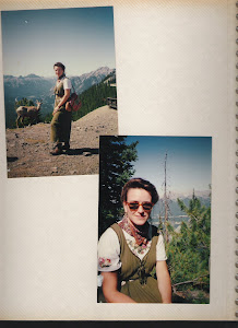 Madame George in the Stoney Mountains, Alberta, Canada - Circa 1993