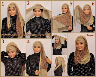 Cara Pakai Jilbab Modern (+Gambar, Video dan Keterangan)
