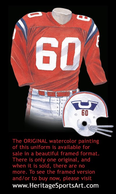 New England Patriots 1960 uniform
