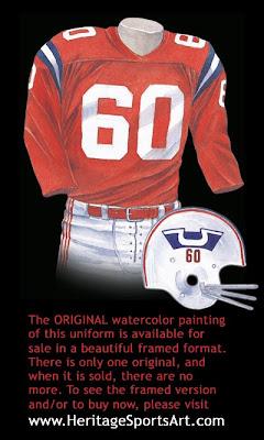 Boston Patriots 1960 uniform - New England Patriots 1960 uniform